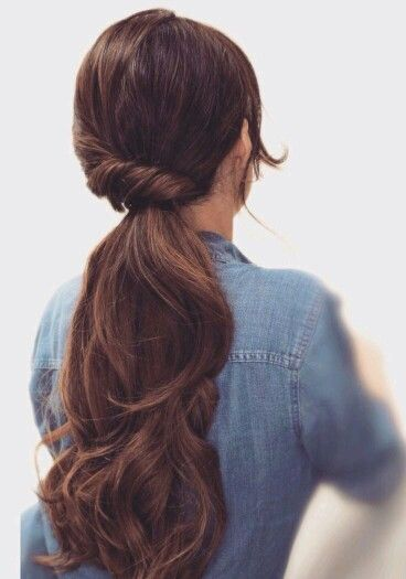 Braid Blended with Ponytail Hairstyle