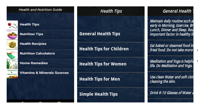Health and nutrition guide