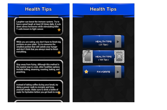 Health tips best android app for health