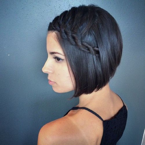 Side Waterfall Braid Hairstyle