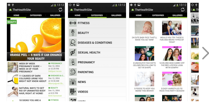 The health site – Best health related Android app