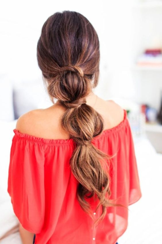 Triple Braid Ponytail Hairstyle