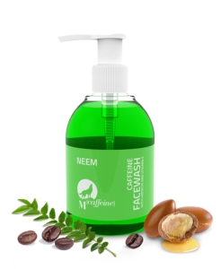 Caffeine Neem Face Wash Cleanser with Argan Oil and Vitamin E