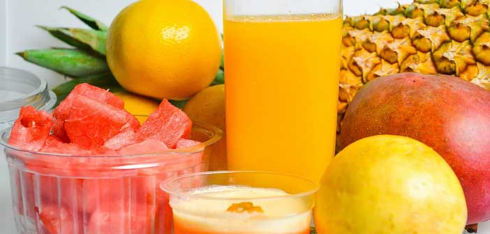 recommended fresh fruit juices to reduce prickly heat or rash in summer