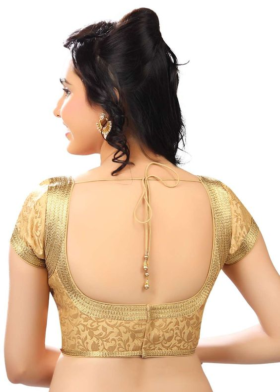 Traditional gold patch work blouse