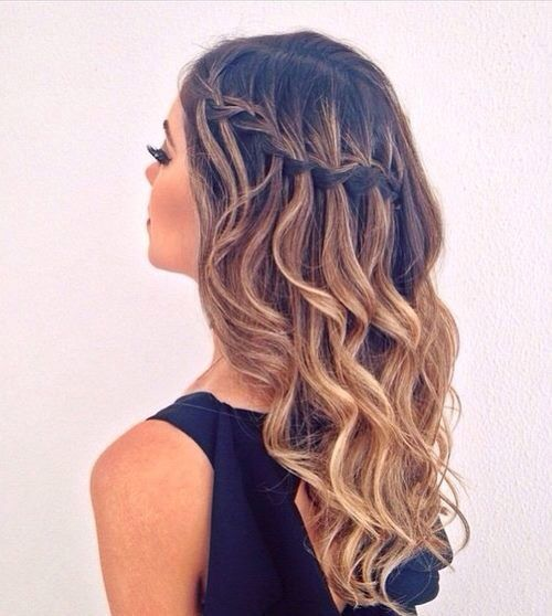 Short Braided Hairstyles For Women - Hairstyle with curls and braids