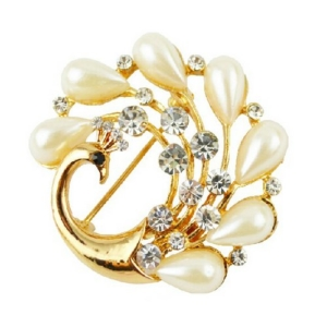 Pearl Stylish Saree Brooch