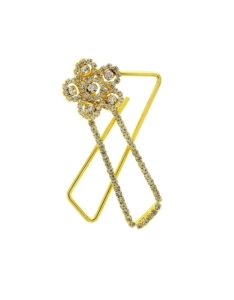 Anuradha Art Golden Finish Designer Classy Shimmering Designer Brooch/Pin For Women