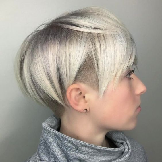 Blonde Pixie Pyramid Side Undercut