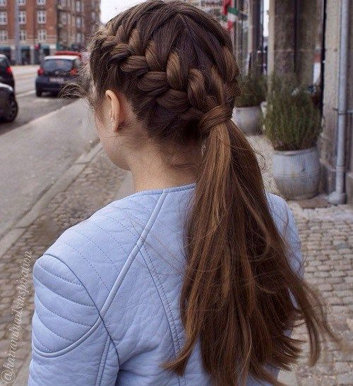 Simple Braided Hairstyles For Thick Hair