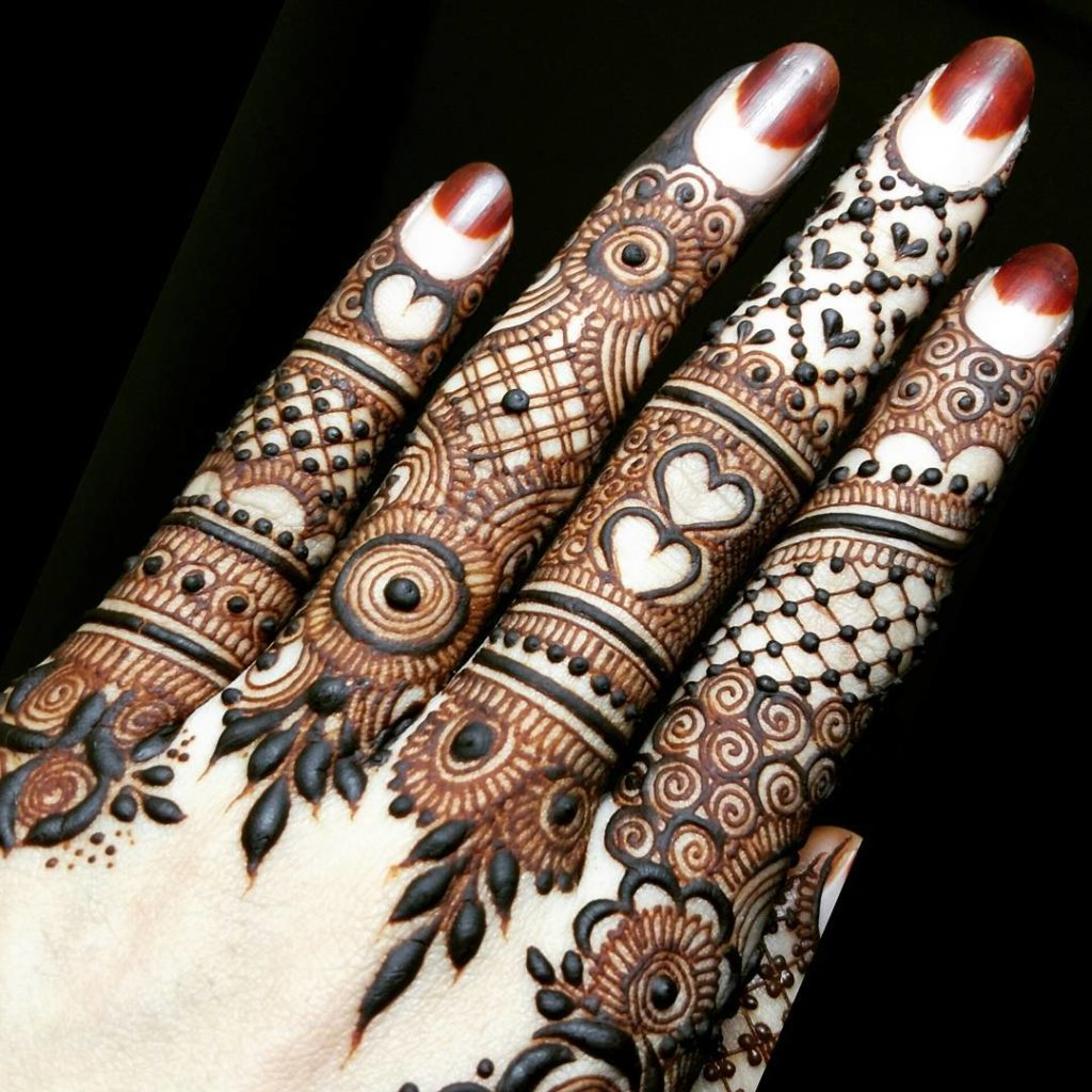 Bridal Mehndi Designs For Fingers