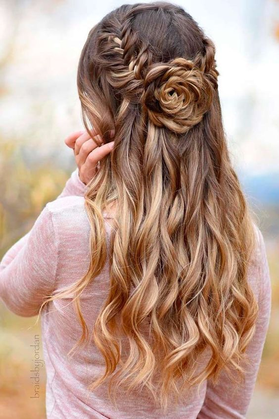 Fishtail Floral Braid