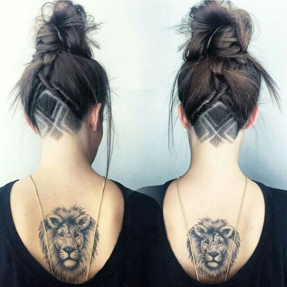 Pattern Undercut with Top Knot Fishtail Braid