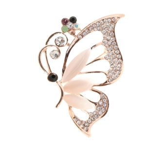 Retro Ride (Vintage Alloy Brooch Retro DIY Crystal Pin Badge Gift for Wedding Bride Butterfly)