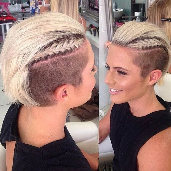 Side Undercut with Layered Braids