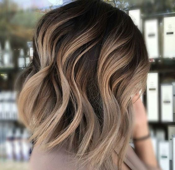 Wavy Ashy Ombre Chocolate Light