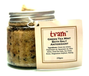 Green tea bath salt