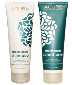 Acure Organics Coconut Straightening Hair Shampoo & Conditioner