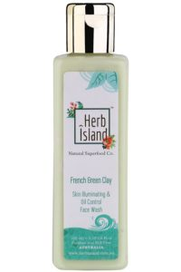 Herb Island French Green Clay Skin Illuminating and Oil Control Face Wash