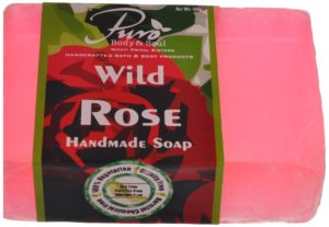 Puro body and soul wild rose handmade soap