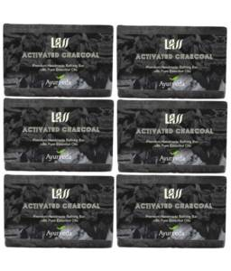 ACTIVATED CHARCOAL Handmade Soap Set of 6
