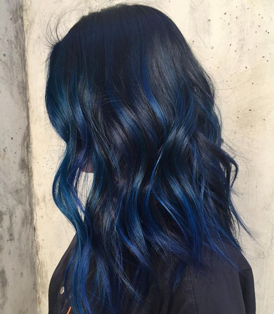 Blue Balyage hair
