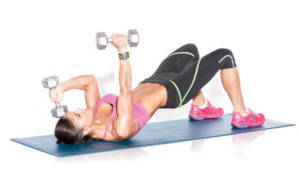 Bridge with triceps extension