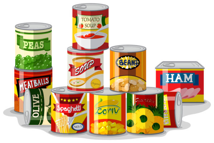 Canned foods should be avoided
