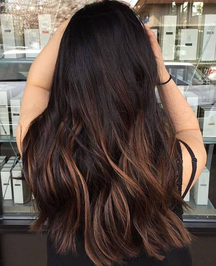 Dark Brown Hair Styles With Highlights And Lowlights