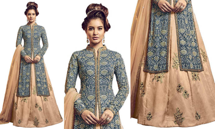 Lehenga with long jacket