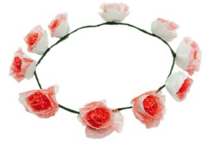 Loops n knots Floral Collection Red Tiara For Women