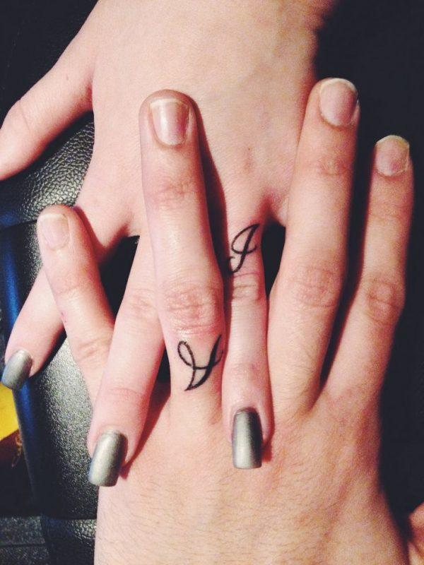 Lovable tiny finger tattoos