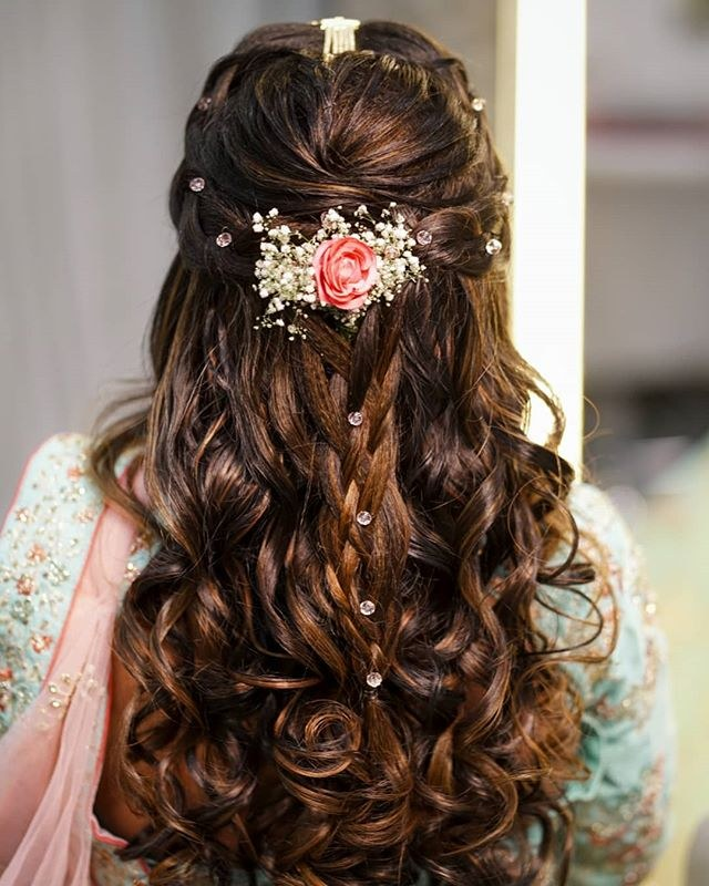 Hairstyles For Wedding Parties: Party Hairstyles For Medium Hair With Saree