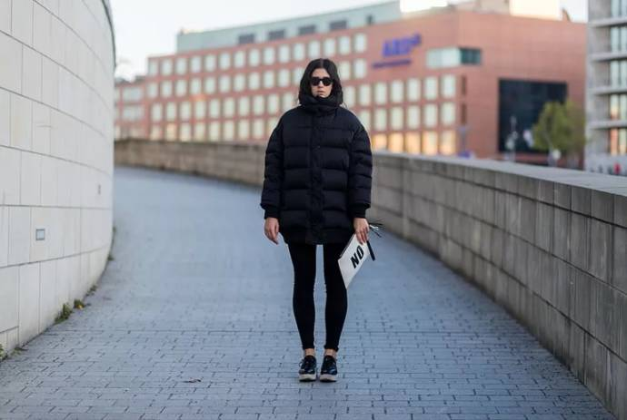 Puffer coat with leggings