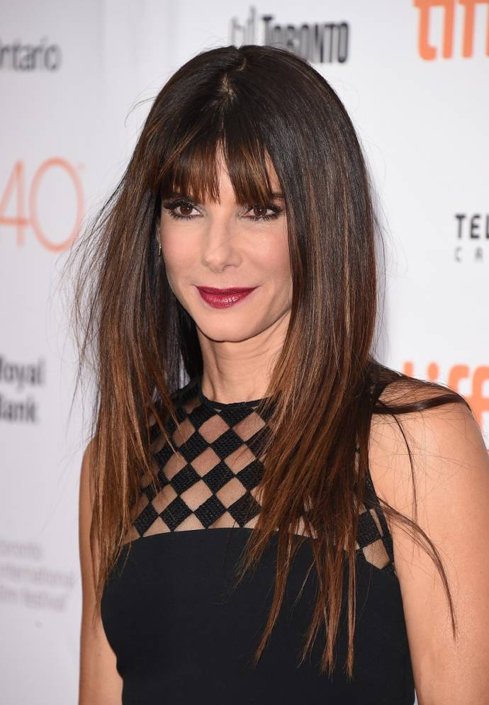 Right layered bangs hairstyle for your square or oval face shape