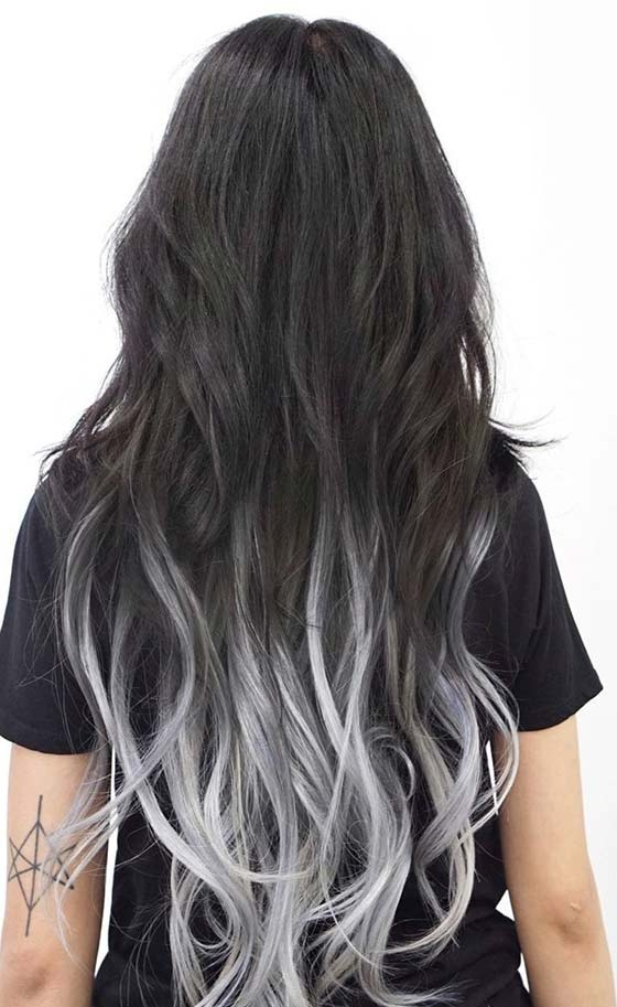 Storm Gray style on long-length hair