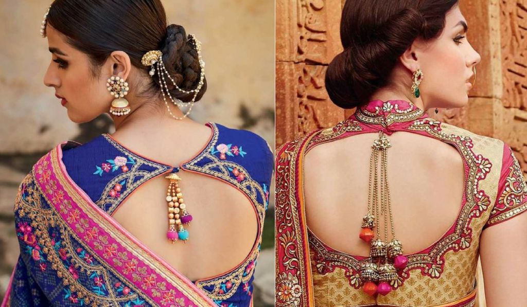 Traditional round neck blouse