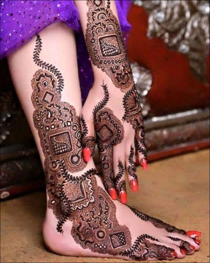 Bridal Mehndi Designs For Legs Easy Dulhan Henna Designs For Wedding