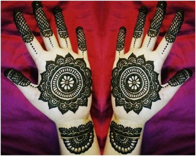 Youthful and trendy mehndi design