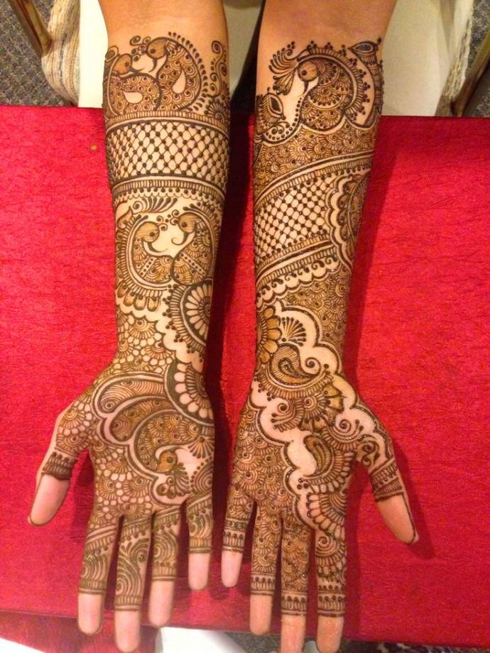 Indian Bridal Henna Designs: Latest Bridal Mehndi Designs For Full Hands