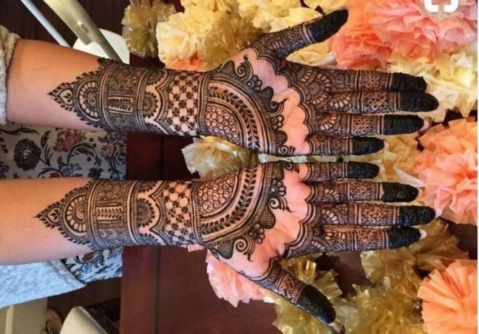 Conventional mehandi design