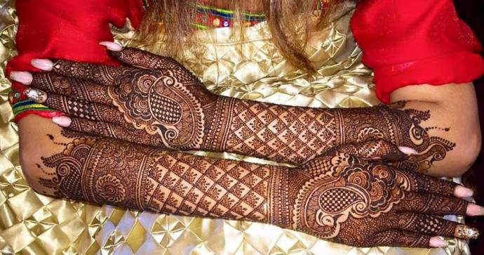 Latest Full Hands Mehndi Designs : Gujarati indian henna mehandi designs for hands