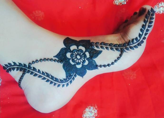 Henna Mehndi Designs For Foot Feet With Pictures
