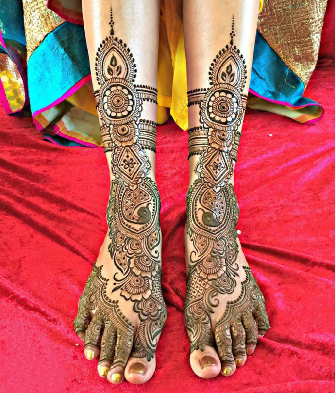 Best Henna Mehndi Designs For Legs Best Leg Mehndi Designs