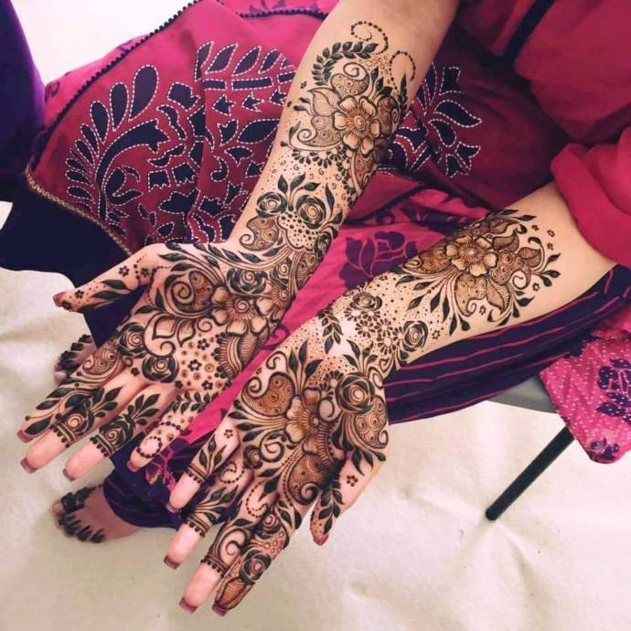 Beautiful Gujarati Henna Mehandi Designs For Hands With Pictures