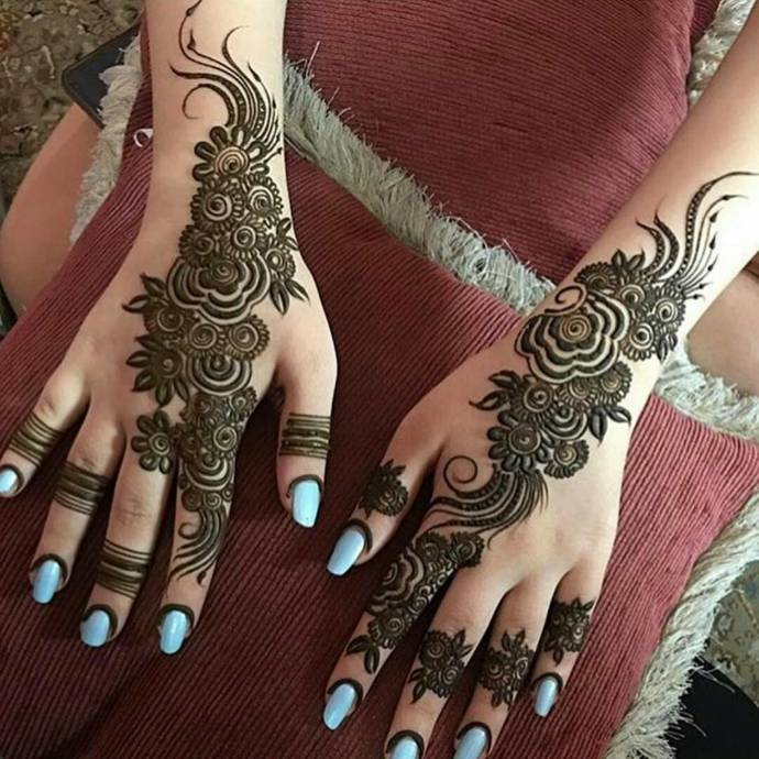 Latest Arabic Wedding Mehndi Designs For Full Hands Of Bride