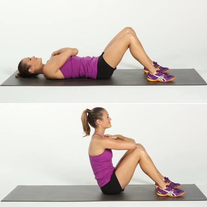 The full sit up crunch