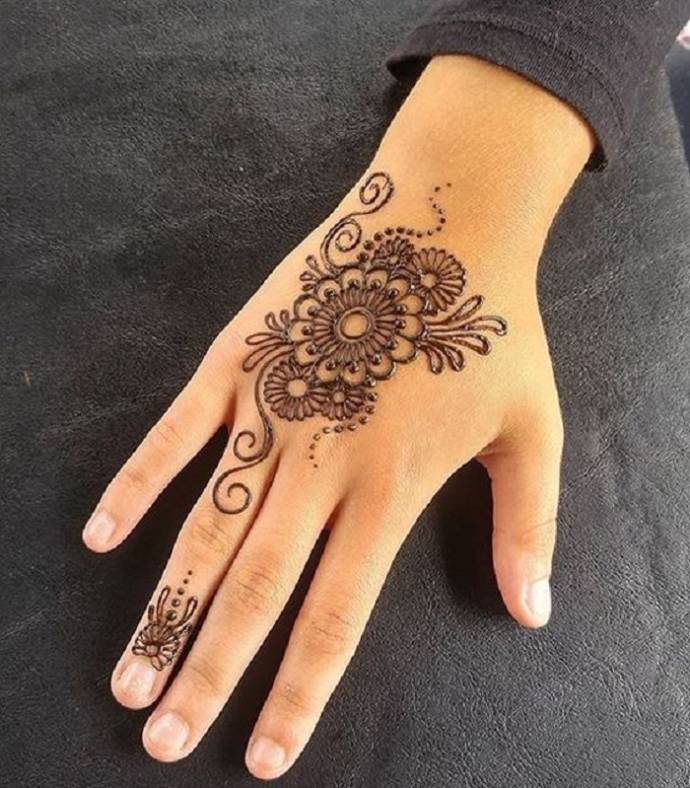 Circle Mehndi Designs Round Mandala Henna Designs For Hands