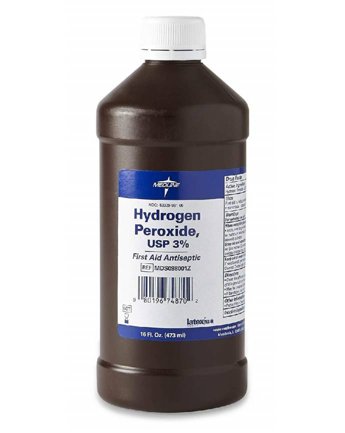 Hydrogen peroxide to get white armpits