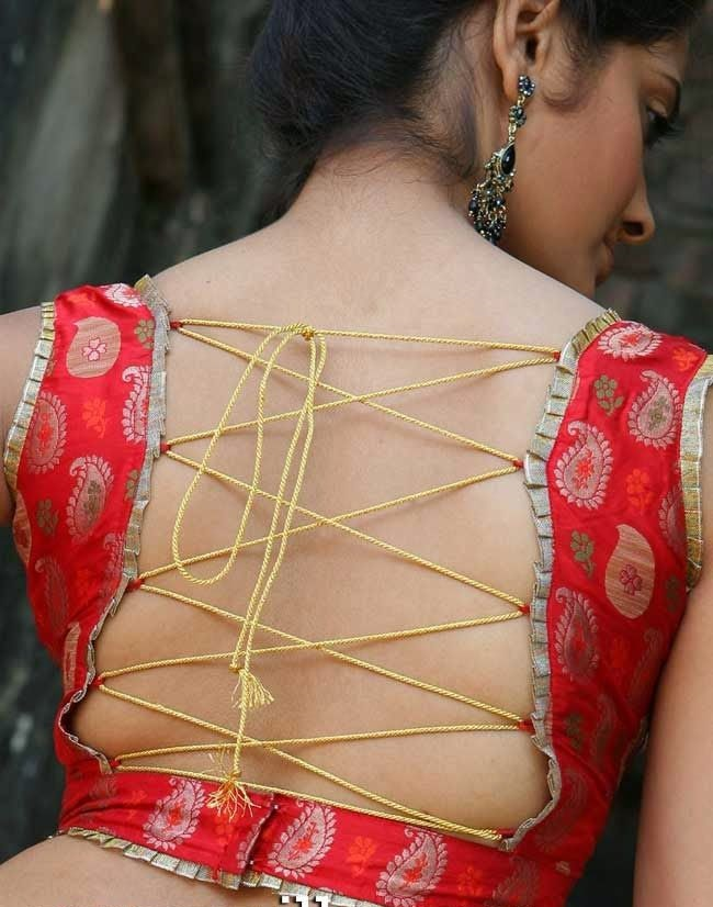 Neatly accessorized blouses with strings1